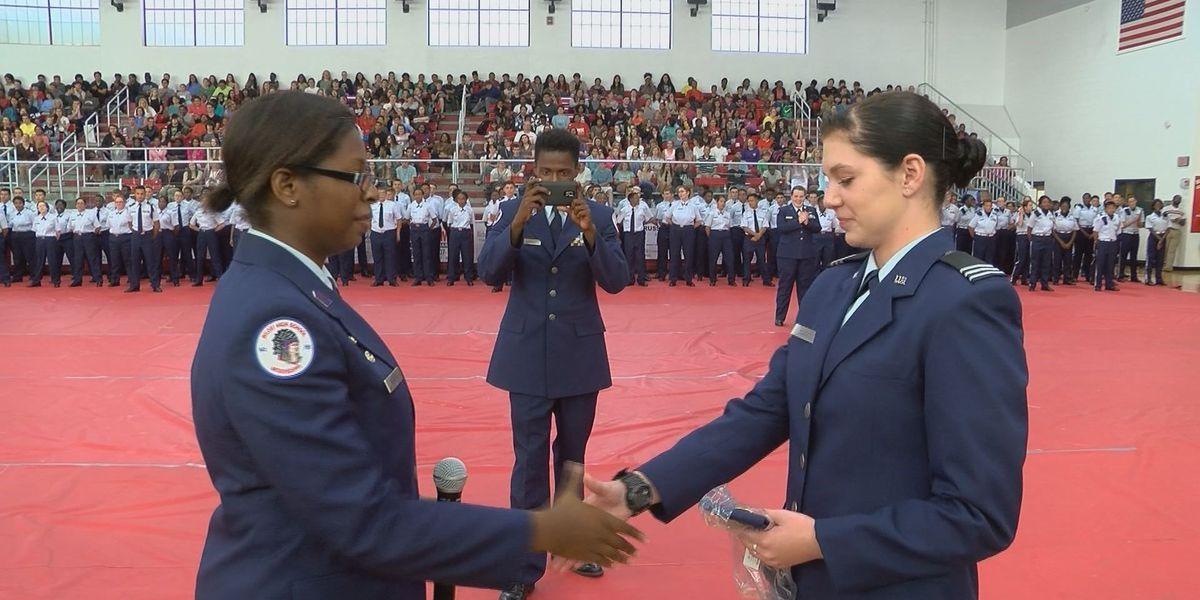 Air Force JROTC cadets take oath at Biloxi High