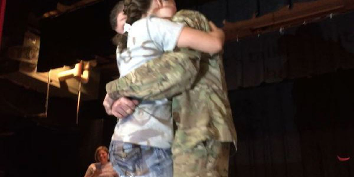 Biloxi school hosts surprise homecoming for father returning from deployment