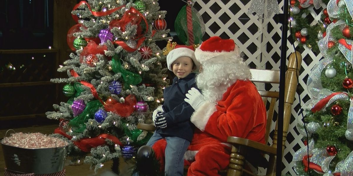 Hundreds show up to see Santa at the Fairgrounds