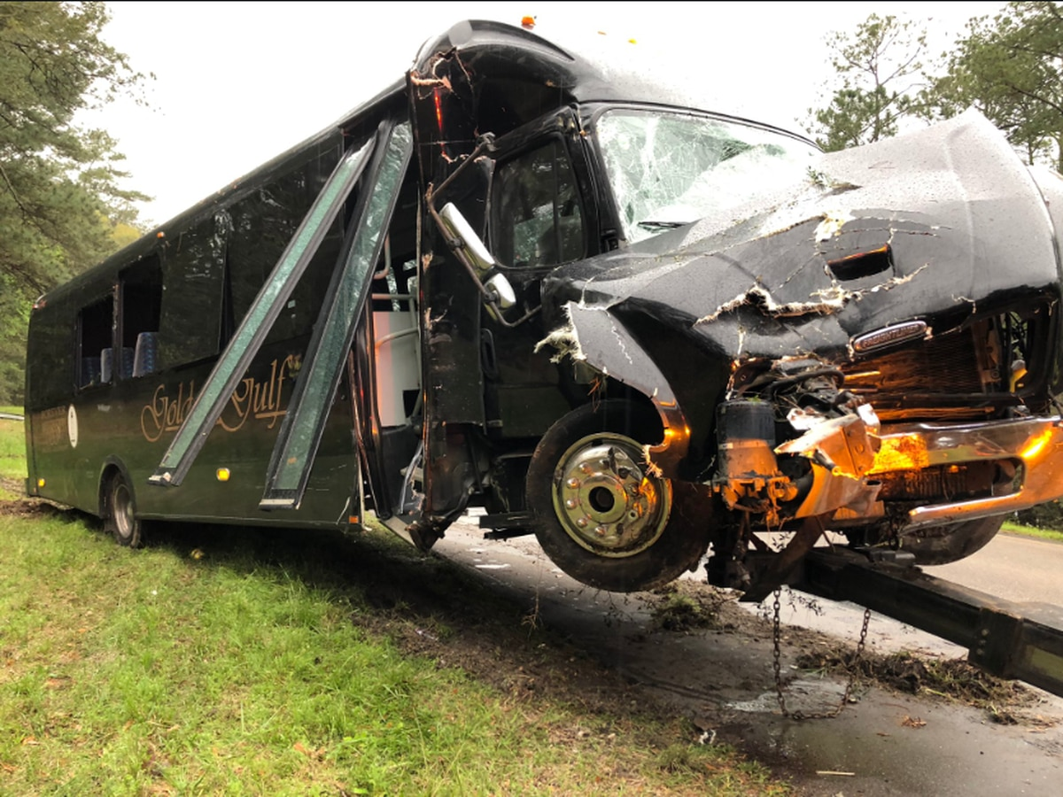 Tour bus crash in Hancock Co. sends dozens to area hospitals