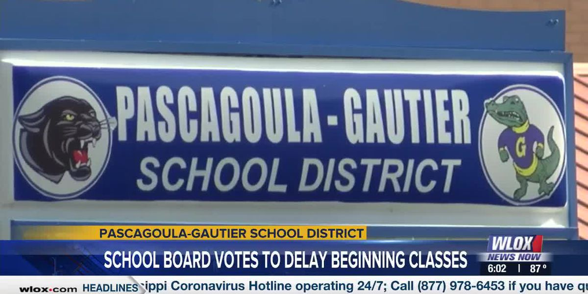 Pascagoula-Gautier School District postpones return to school by two days