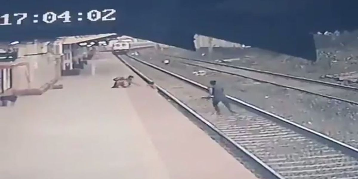 WATCH: Railway worker rescues child from path of oncoming train