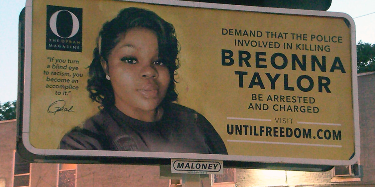 Breonna Taylor billboards around Louisville organized by Oprah Winfrey