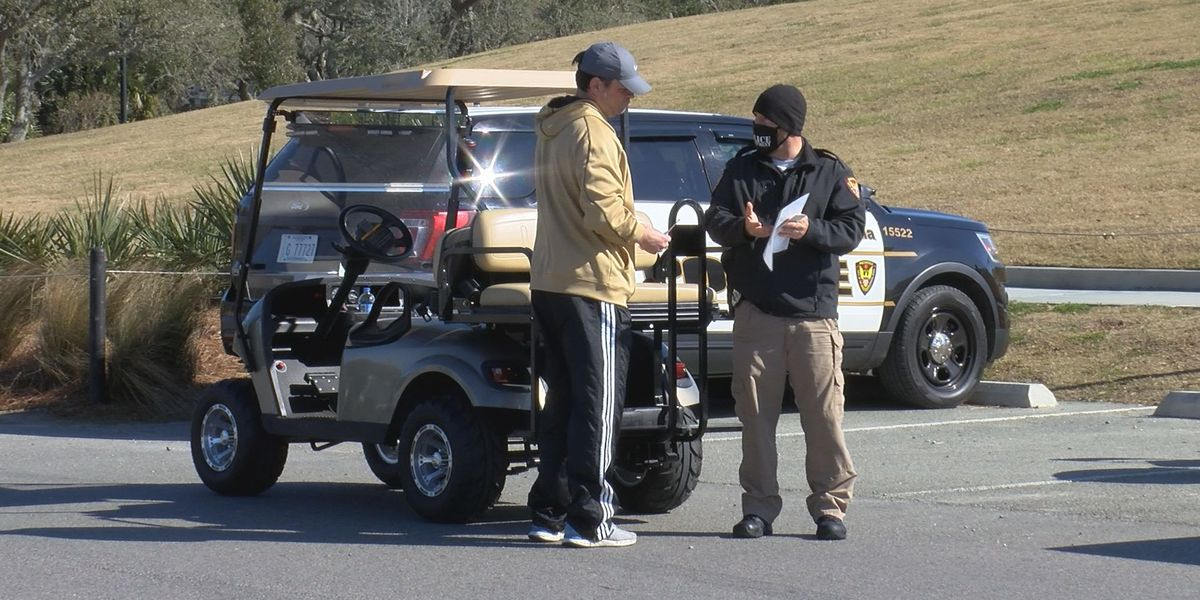 Pascagoula Police hold golf cart inspection