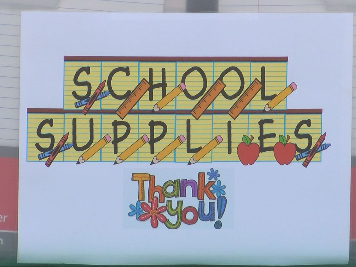 Gautier church donates classroom supplies to schools