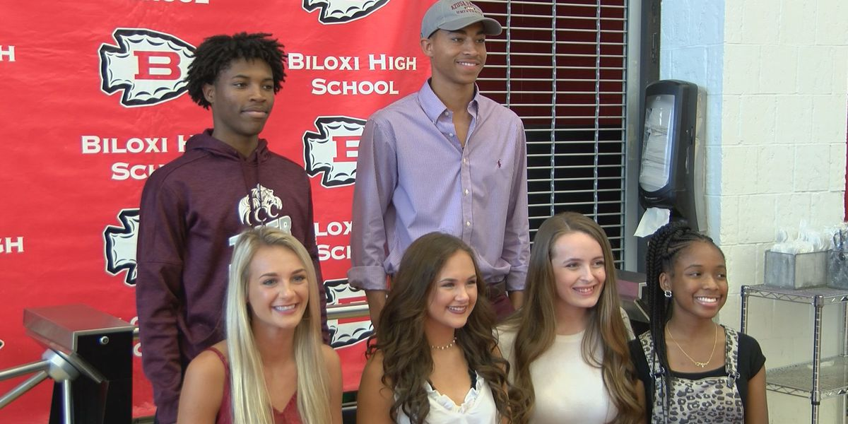 Six honored at Biloxi High spring signing ceremony