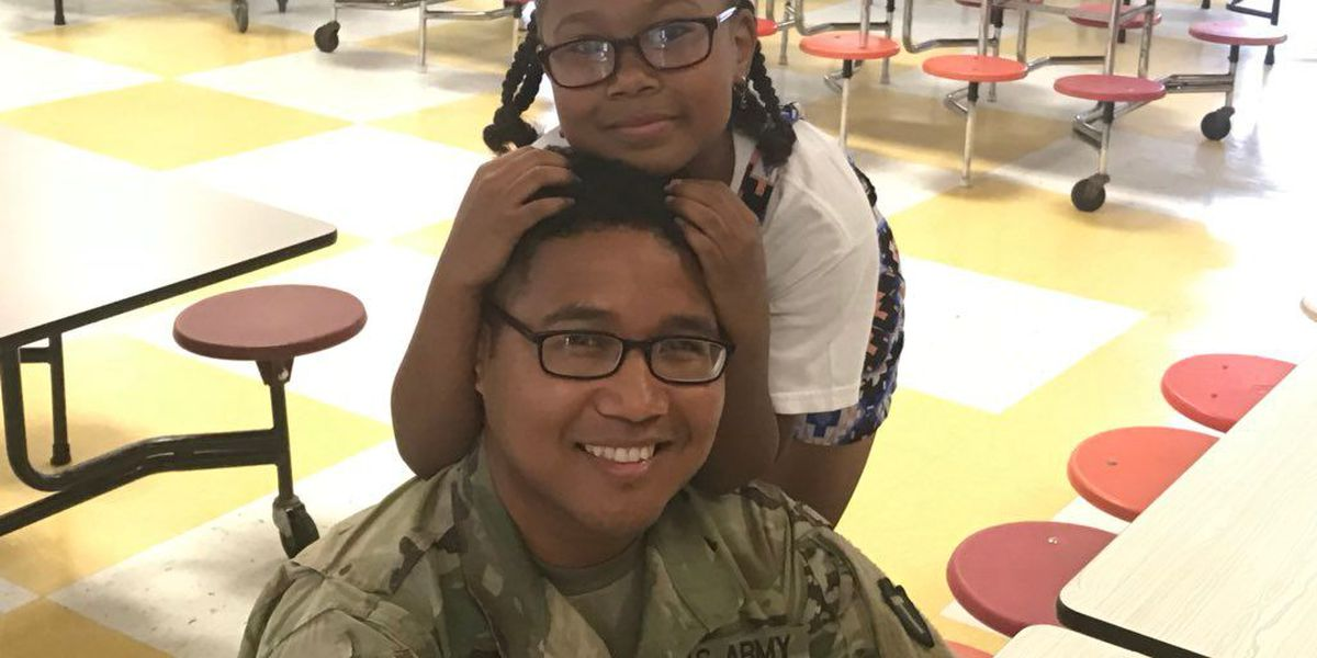 HAPPY HOMECOMING: Army medic surprises daughter at D'Iberville Elem.