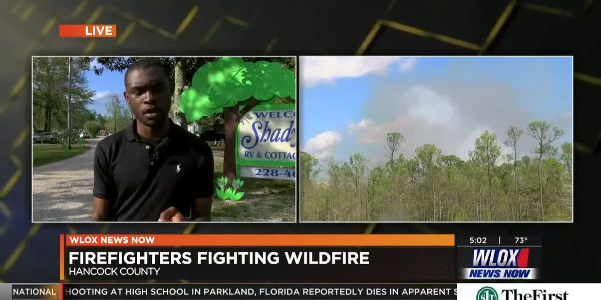 LIVE REPORT: Hancock County wildfire has been burning for three days
