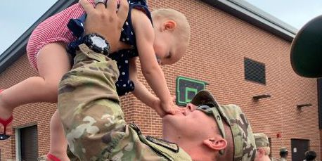 National Guard soldiers begin journey to deployment with emotional sendoff