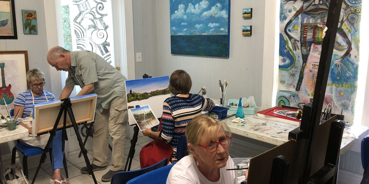 WAMA lets students learn to paint from a pro