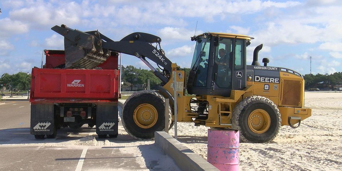 Harrison County crews groom beach ahead of holiday weekend