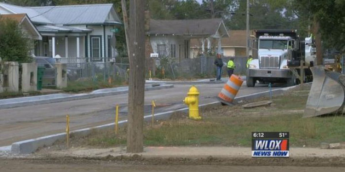 3,000 tons of asphalt being poured in East Biloxi