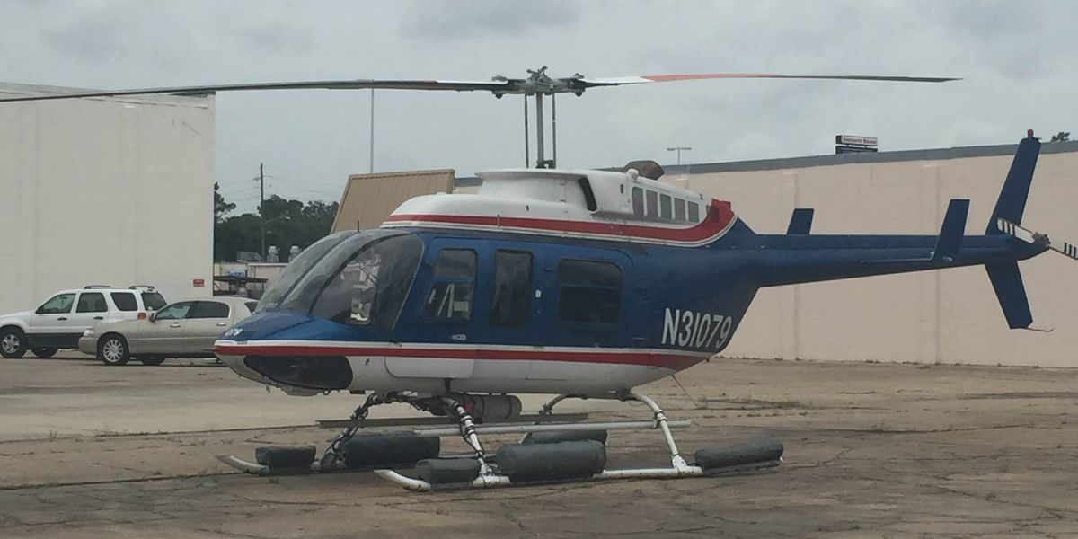 Helicopter makes surprise landing in Biloxi