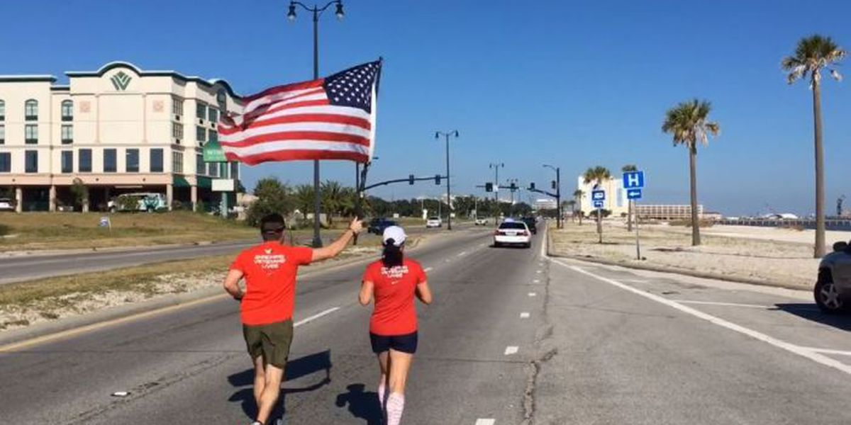 Old Glory Relay passing through South MS