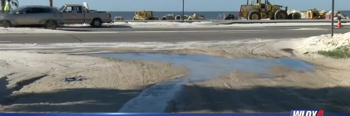 LIVE REPORT: Gulfport working to fix Hwy 90 drainage