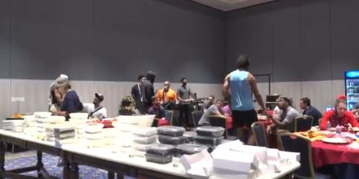 VIDEO: Gayle Benson sent the Pelicans all the Louisiana food favorites to have in the bubble
