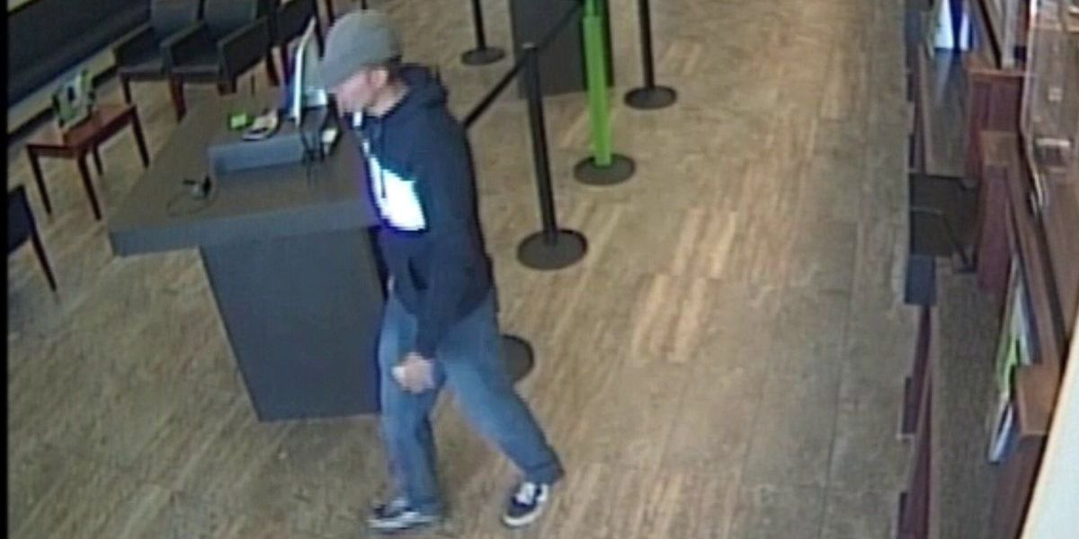 Bank robbery suspect arrested in Gulfport
