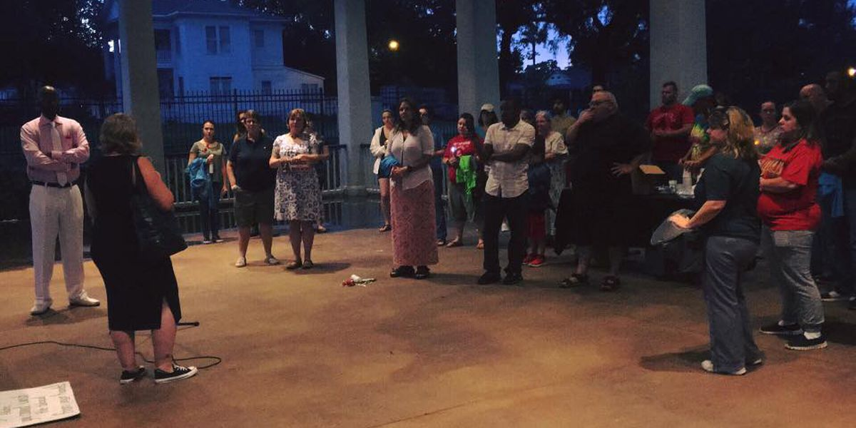 Crowd gathers in Biloxi to condemn hate