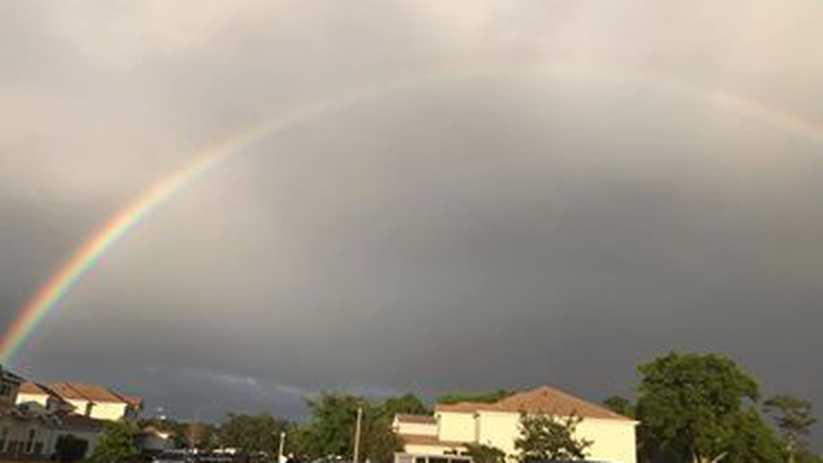 Rainbows shine over the Gulf Coast after string of severe weather