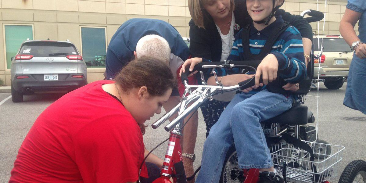 10-year-old living with cerebral palsy receives special bike