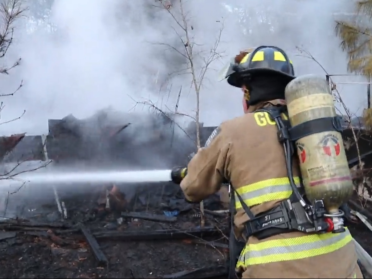 Vacant mobile home destroyed by fire in Harrison County