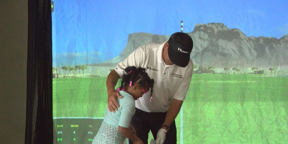 Champions Tour pro talks to kids about golf and life