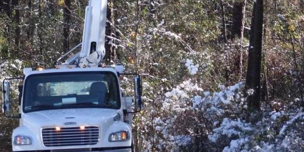 Snowfall causes major power outages in Hattiesburg