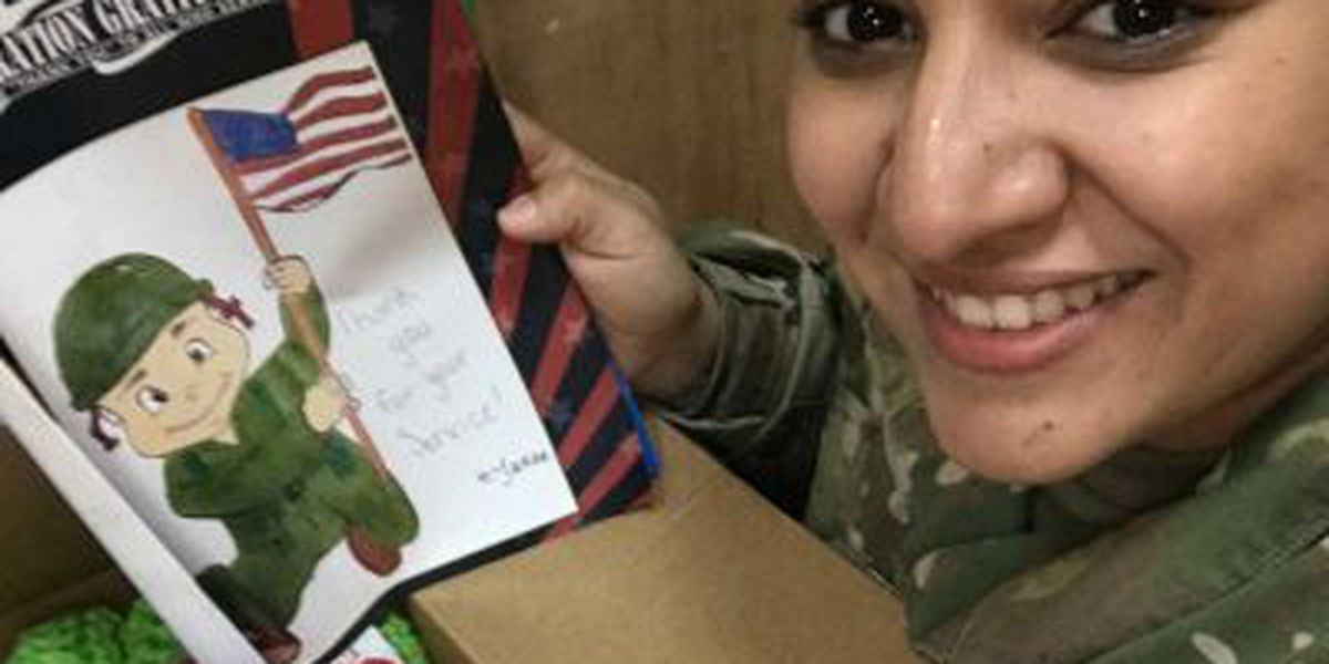 Dental office accepting candy for troops