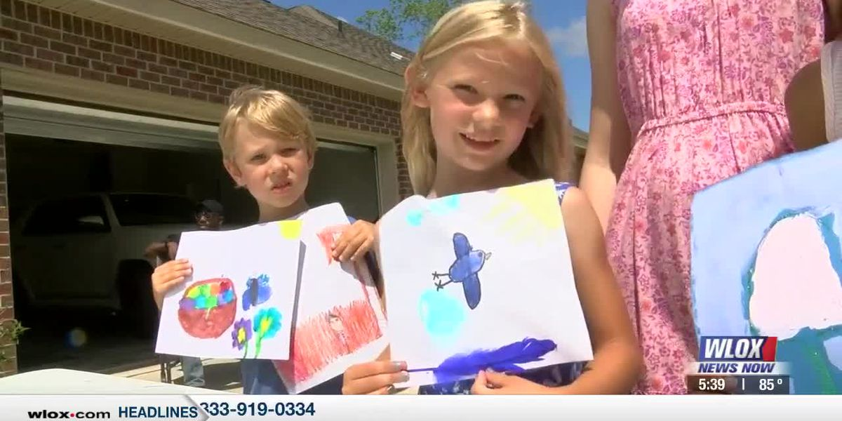 Children's paintings help feed those in need through donations