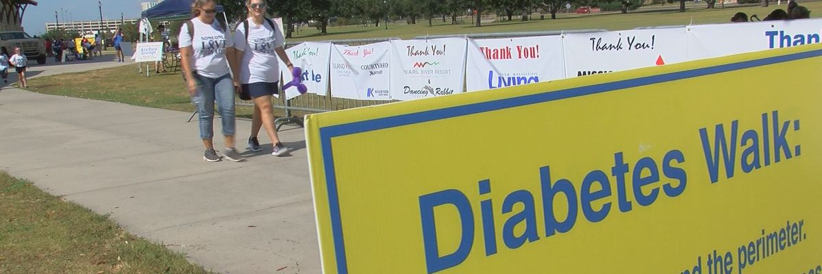 Dozens walk to draw awareness to diabetes