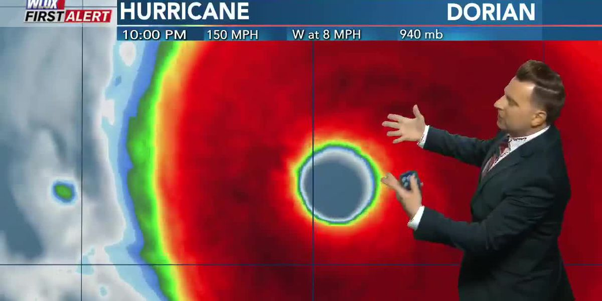 Powerful Dorian approaches Abaco Islands 10 PM 8.31.19