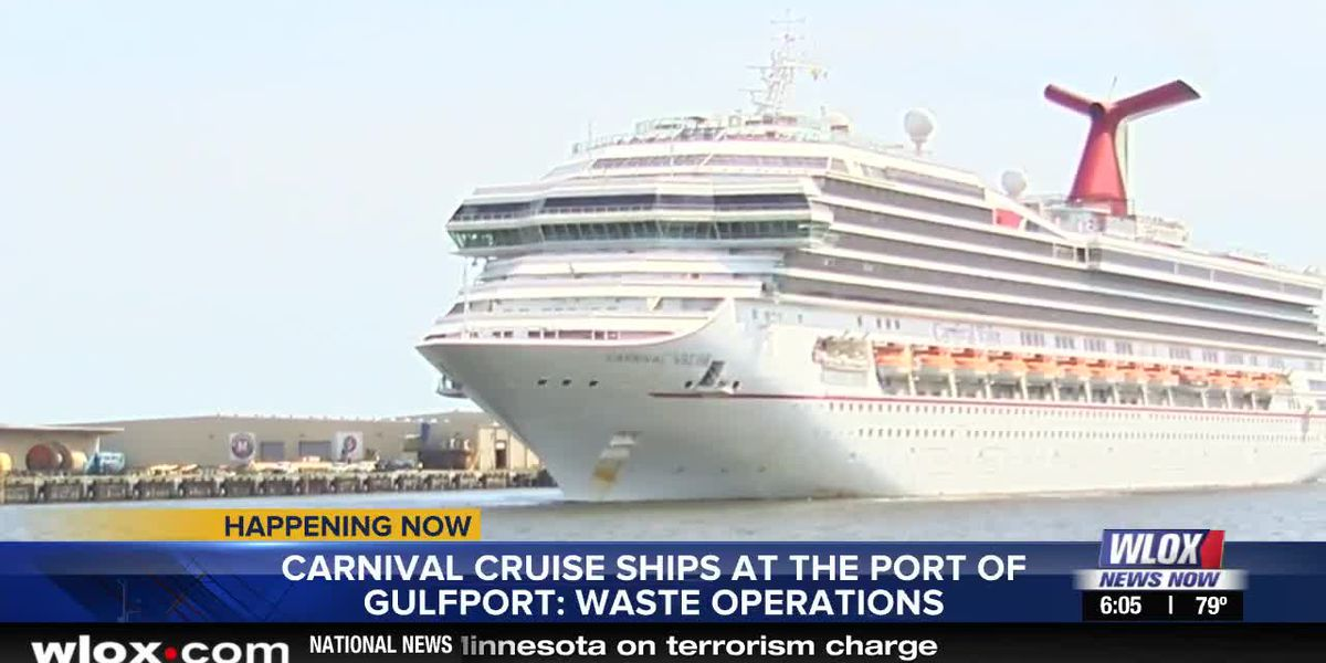 Carnival cruise liner leaves port as part of routine waste operations