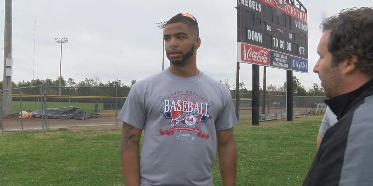Baseball player Bobby Bradley giving back to the community
