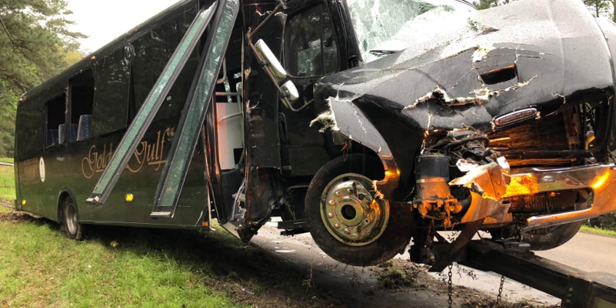 Tour bus crash in Hancock Co. sends dozens to area hospitals