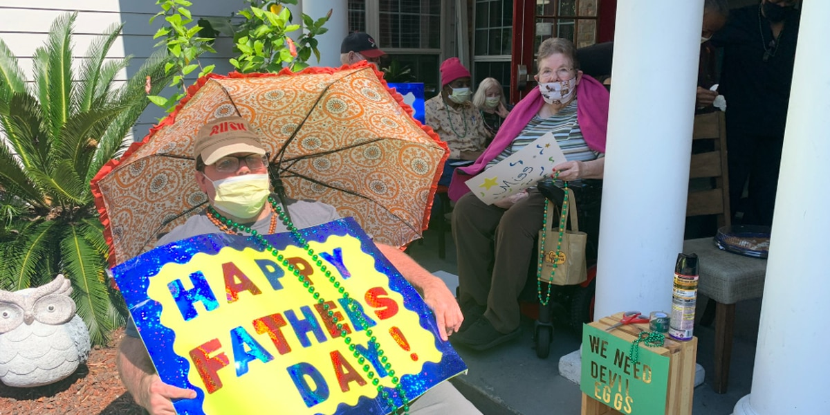 St. Martin nursing home residents celebrate Father's Day with early parade