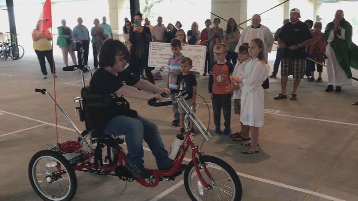 Youth at Waveland church donate trikes for 'differently-abled' children