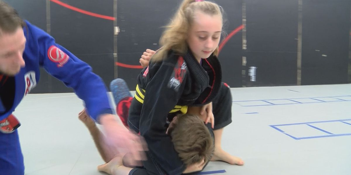 Girl, 10, taking on all comers in grappling competitions