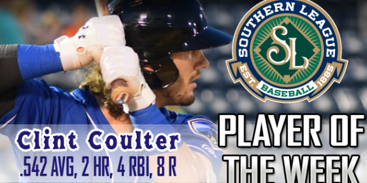 Shuckers outfielder Clint Coulter named Southern League Player of the Week