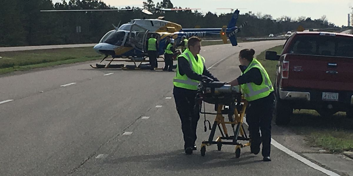 Man airlifted after serious crash on Three Rivers Road