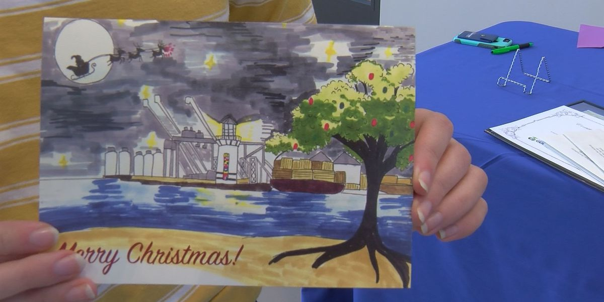 """Christmas Eve at the Port"" wins facility's Christmas card contest"