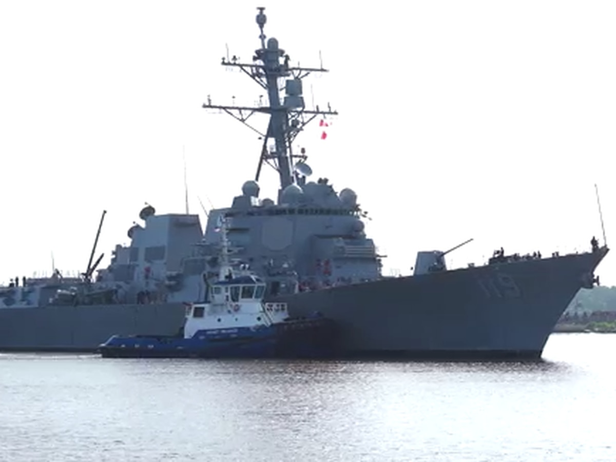 U.S. Navy commissioned Guided Missile Destroyer Delbert D. Black