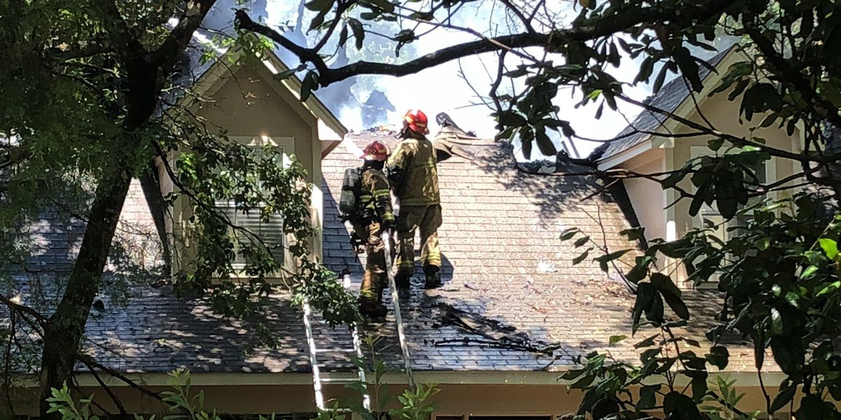 Firefighters battling house fire in Gulf Park Estates