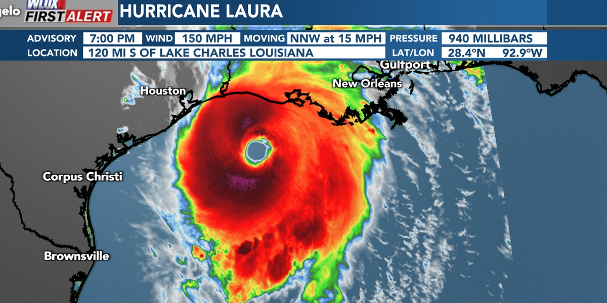 "Laura almost at category 4, ""unsurvivable storm surge"" possible"