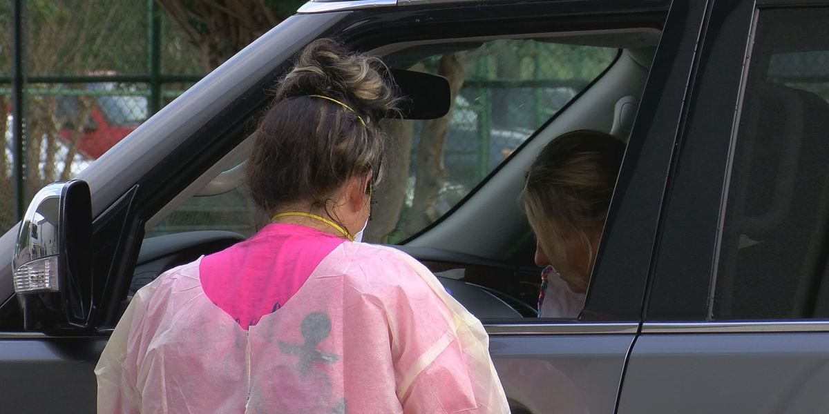 Drive-thru COVID-19 testing continues as case numbers increase