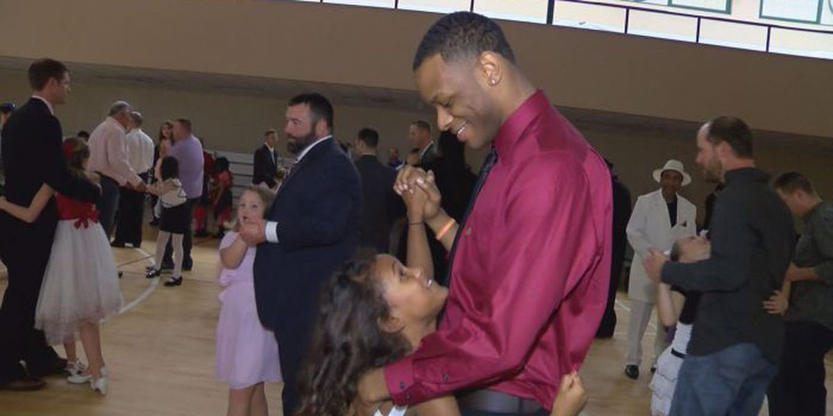 Dads and daughters dance the night away