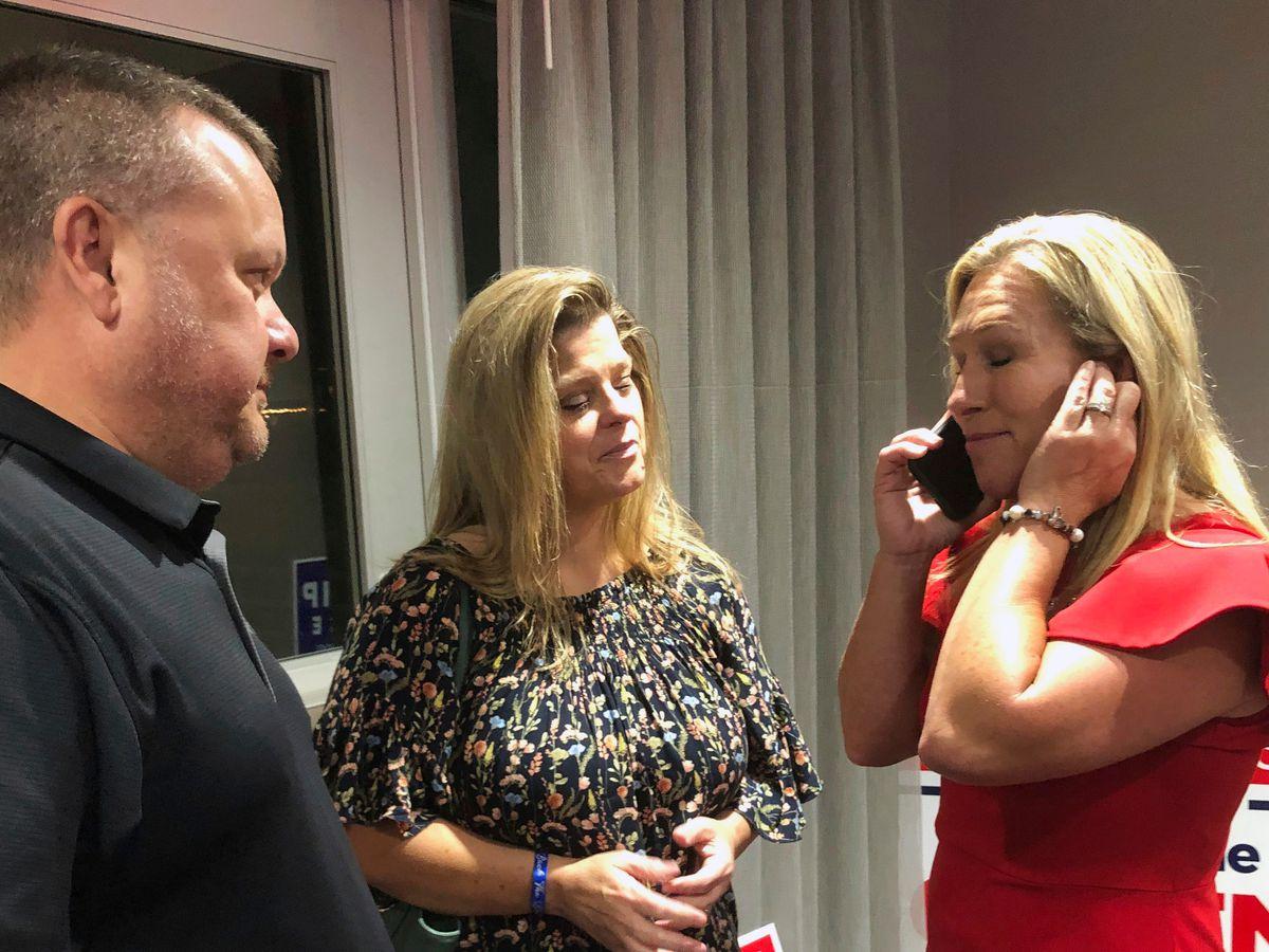 Trump congratulates QAnon supporter Greene on Georgia win