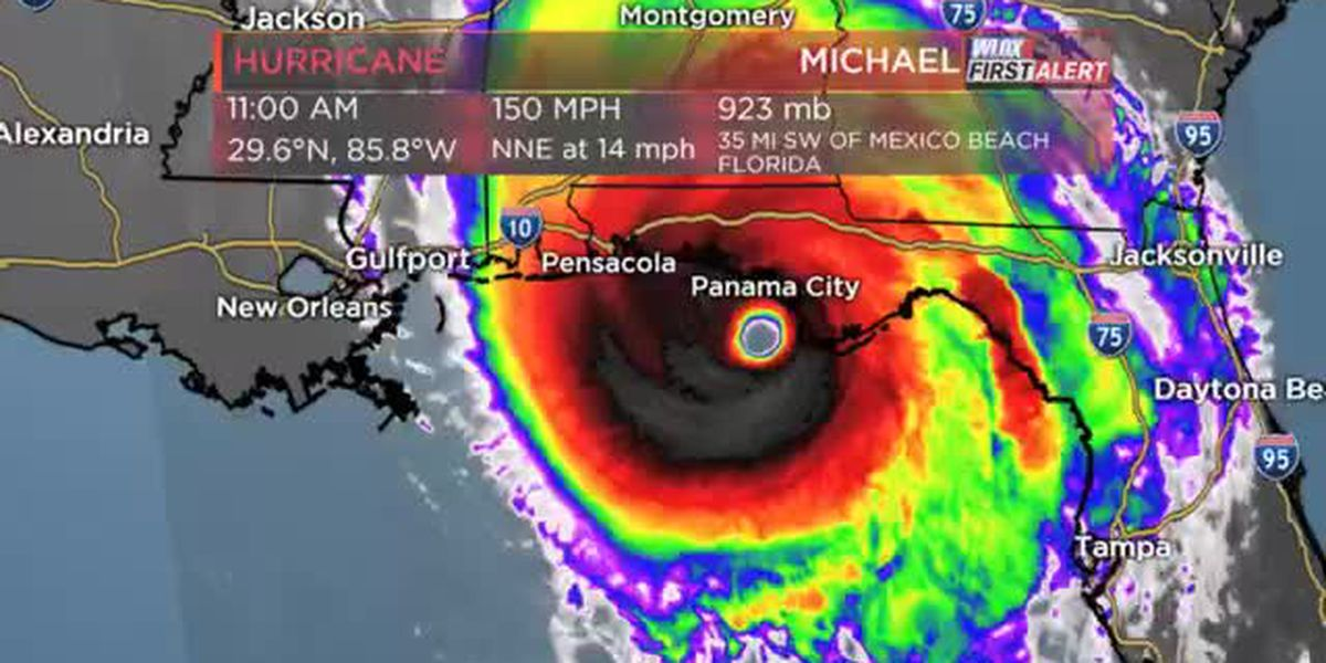 Landfall imminent! Michael just offshore Florida