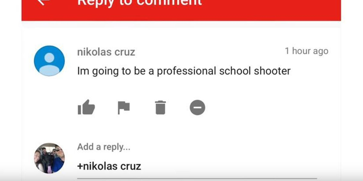 South MS man reported threatening Youtube comment made by alleged school shooter last fall