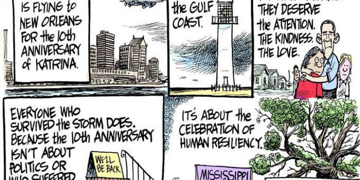 Cartoonist politely sums up Mississippians' feelings on presidential snub