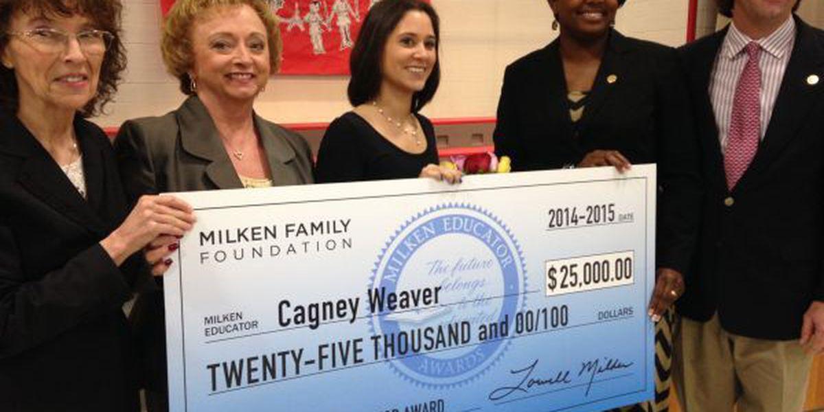 Biloxi teacher wins $25K national education prize